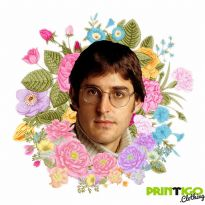 Floral Wreath Louis Theroux Print Tee